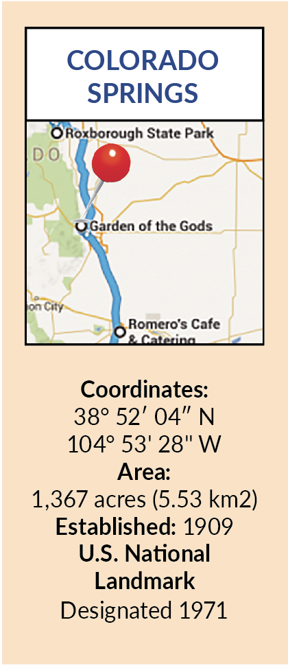 Garden of the Gods Stats