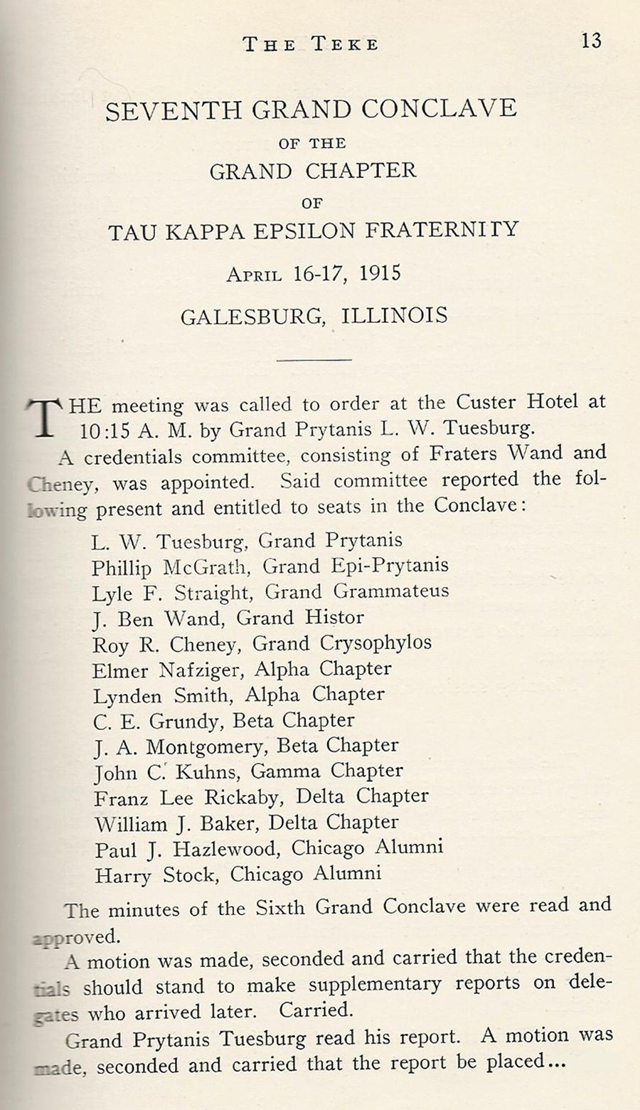 Conclave 1915