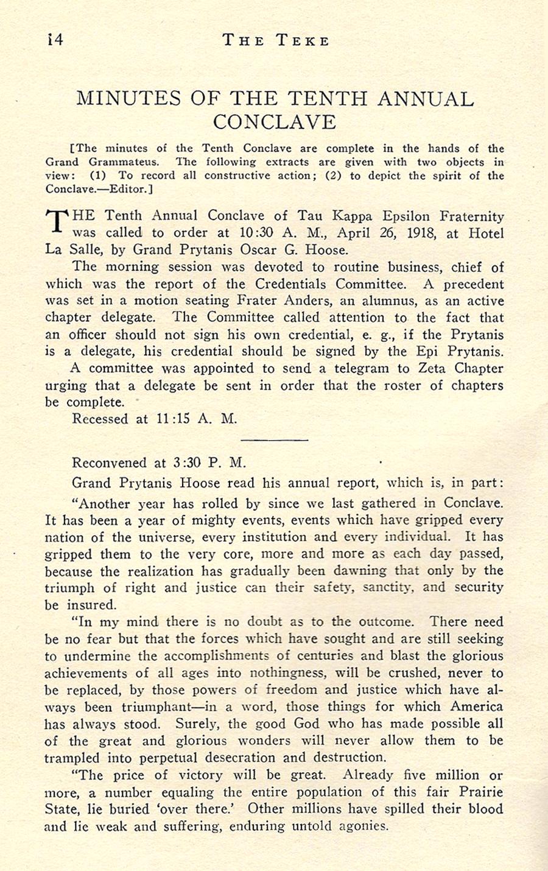Conclave 1918