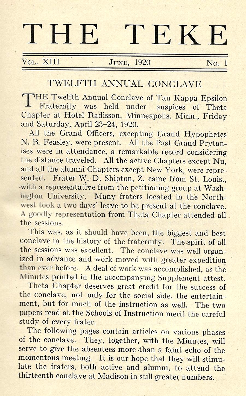 Conclave 1920