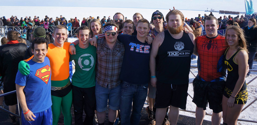 University of Minnesota-Duluth Tekes Prepare for Polar Plunge