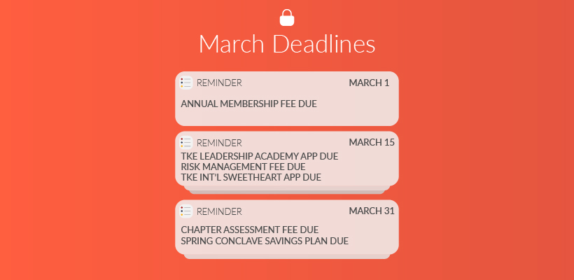 Important March Deadlines: Leadership Academy, Scholarships & Fees