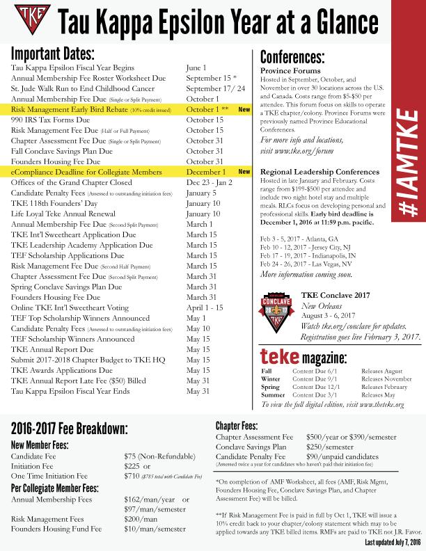 2016 2017 year at a glance calendar tke org